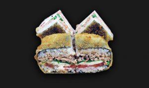 Суши-сендвич с семгой